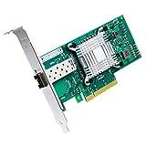 ipolex 10GB PCI Express Netzwerkkarte für X520-DA1-Intel 82599ES Chipsatz, 10 Gigabit Single SFP + Port PCI-E konvergierter Netzwerkadapter(NIC) für Windows Server, Linux, PC, VMware ESX, MEHRWEG