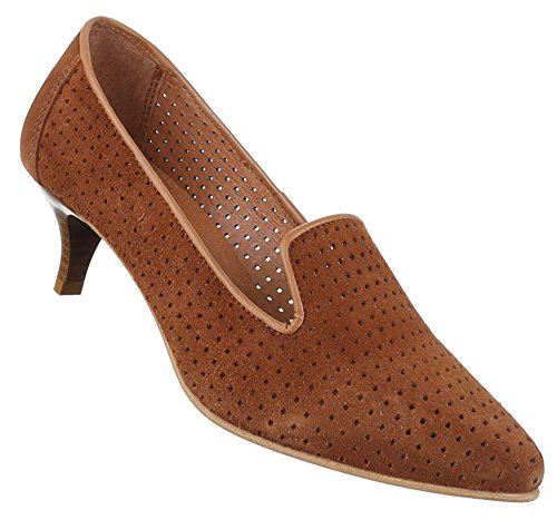 Femininos Bombas Sapatos Confortável 1camel Modelo Confortável Nr Couro Hqq5nrwx