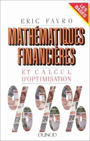 Mathématiques financières et calcul d'optimisation