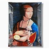 Carmani - Rechteckige Glasplatte mit Da Vinci Gemälde bedruckt 20x28cm