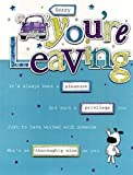 Sorry You're Leaving Gigantic Greeting Card Embellished & Flittered A4 Sized Cards