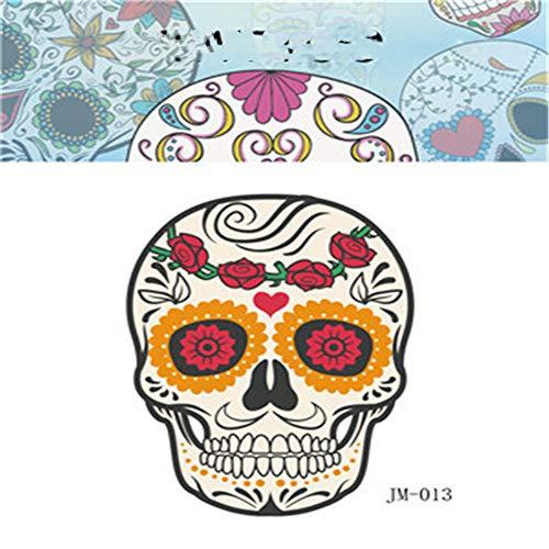 sserdichte Party Halloween Tattoo Aufkleber Shantou lustiges Kind Erwachsene Horror Gesicht Aufkleber 10 6x8,5 cm ()