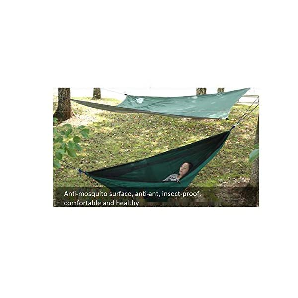 MALY Outdoor Camping Thickened Anti-Mosquito Hammock Outdoor Leisure Double Camping Tent Swing  Encrypted mosquito net design, soft and encrypted net yarn, firm and fine anti-ant pest control, no need to worry about mosquito infestation. Ultra-lightweight design, portable and load-bearing, light and breathable, easy to carry. With high-quality zipper design, it lasts for a long time and is not easy to break. 4