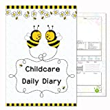 Journal de Puériculture, les liens Eyfs, Daily Journal Agenda, enfant d'enregistrement, Early Years Care, abeilles Coque. a5