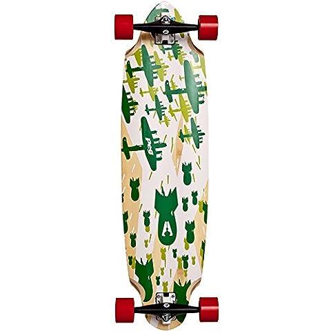 a-bomb à pinces à linge bambou 95,2cm (Cruising/freeride) 5plis en bambou Longboard Red Wheels Send Flat Packed