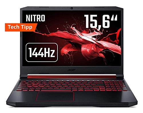 Acer Nitro 5 AN515-43-R90F 39,6cm (15,6 Zoll 144Hz Full-HD IPS matt) Gaming Notebook (AMD Radeon RX 560x, 8GB RAM, 512GB PCIe SSD, AMD Ryzen 5 3550H, Win 10) schwarz