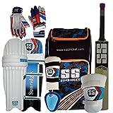 SS Kashmir Willow Full Cricket Kit, Short Handle (Full Size)