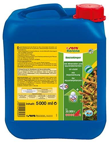 sera 03280 florena 5 Liter - Flüssiger Basisdünger für prächtige Wasserpflanzen