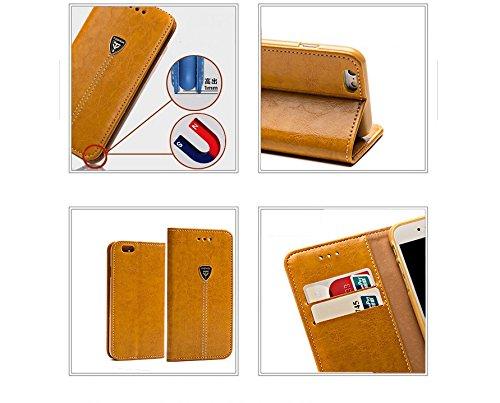Coque iPhone 7,Coque iPhone 7 Plus, Coque iPhone 6/6S, Coque iPhone 6Plus/6S Plus, Coque iPhone 5/5S/SE, [Porte-cartes] étui Protection en Cuir Portefeuille multi-Usage Housse Rabattable(LXT-01) A