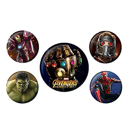 s Infinity War 5 Stück Button Badge Set Thanos Iron Man ()