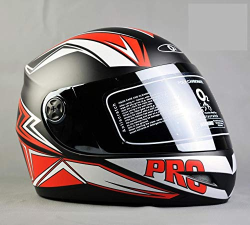 O2 Max Pro P2 Red Graphic with Tinted Poly Carbonate Visor