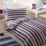 Multi Stripe Single Duvet cover & Pillow Case by Debenhams