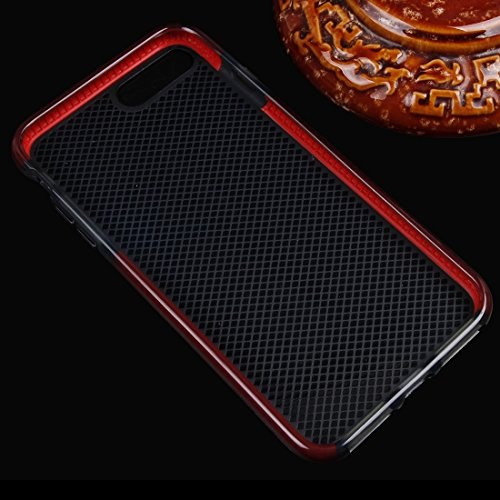 YAN Für iPhone 7 Plus Plaid Texture Transparente TPU Schutzhülle ( Color : Purple ) Red