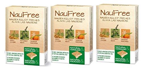 NauFree Übelkeit Relief Patches pour voyage, grossesse, maladie de mouvement und problèmes digestifs - 12 diffuseurs auto-adhésifs d'huiles essentielles naturelles (3)