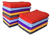 SOFTSPUN Microfiber Cleaning Towel Cloth - Small- 30X30Cms - Pack of 15