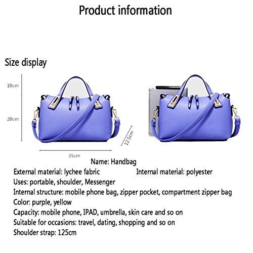 WU ZHI Lady Trendy Purple Borsa A Sacco A Sacco Boston Bag Borsa Mini Borsa Piccola Yellow