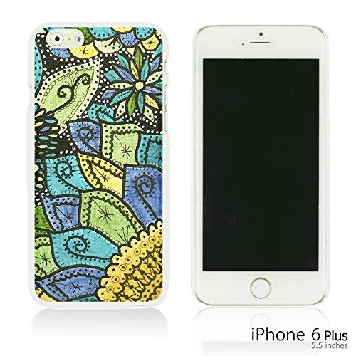 OBiDi - Fabric Pattern Hard Back Case / Housse pour Apple iPhone 6 Plus / 6S Plus (5.5)Smartphone - Pink Boho Pattern Doodle Flower