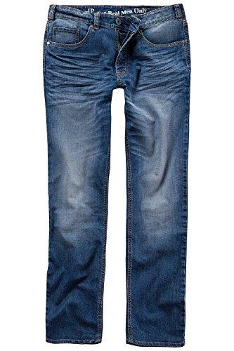JP 1880 Herren große Größen bis 66 | Jeans | Hose aus Stretch-Denim | 5-Pocket-Schnitt | Washed Look | Straight Fit | auch untersetzt | elastischer Bund & Gürtelschlaufen | Blue Denim 33 706546 92-33
