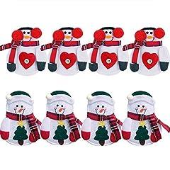 Idea Regalo - Ruiting Portaposate Costume da Babbo Natale, Natale, decorazione per tavolo (8pcs)