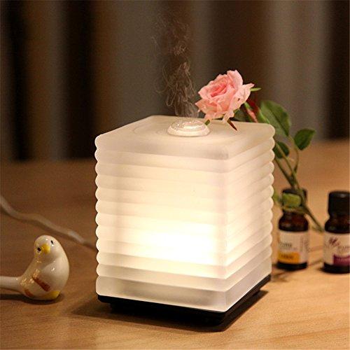 Aromatherapie Ätherisches Öl Diffusor Glas Innovativ Ultraschall Luftbefeuchter Duftöldiffusoren Beruhigend Warm LED Licht Elegant Stilvoll Spa Dampf Luftreiniger