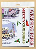 MOTORHOME CHRISTMAS WRAPPING PAPER 2 SHEETS, TWO TAGS
