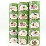 Dreier Dosenturm Set - 15 schmackhafte wie auch traditionelle Feinkost Wurstkonserven aus der Feinksost - Wurstmanufaktur Diem