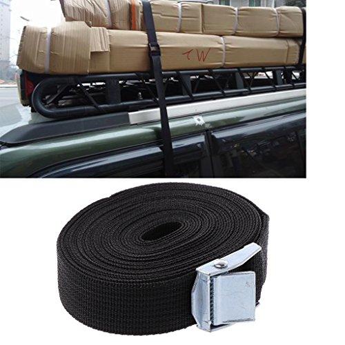Cuigu Tie-Down Belt Cargo Strap Gürtel Strong Ratchet Gepäckgürtel, Schwarz