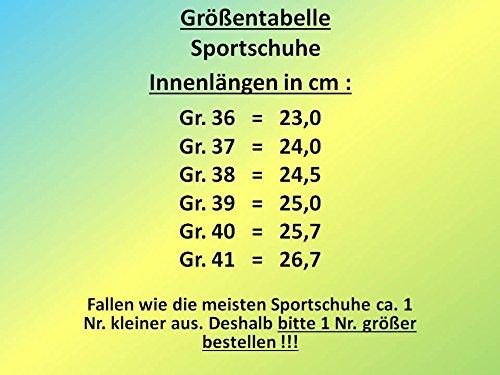 gibra Sportschuhe, Sehr Leicht und Bequem, Schwarz/Orange, Gr. 36-41 Schwarz/Orange