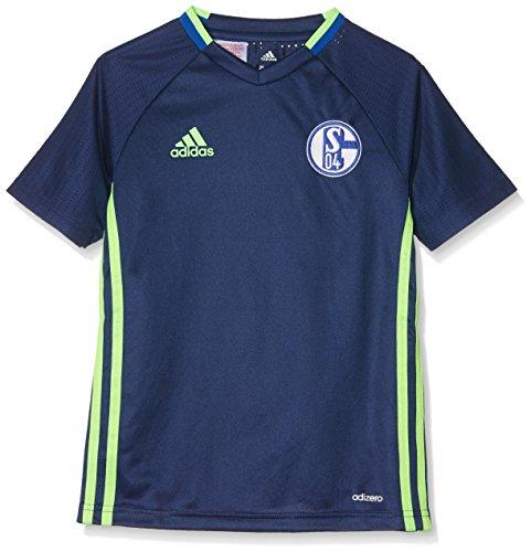 adidas Kinder Schalke 04 Trikot, Dark Blue/Solar Green, 176