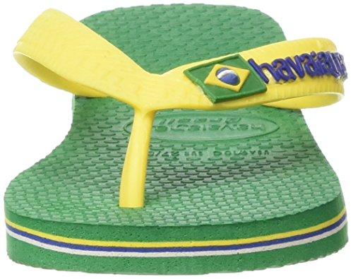 Havaianas Unisex-Erwachsene Brasil Logo Zehentrenner Grün (Amazonia 2619)
