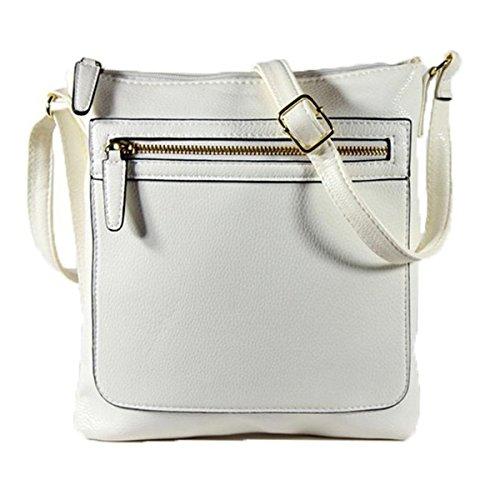 xardi London per Donna, Croce Corpo Borsa a tracolla in pelle sintetica borsa tracolla regolabile UK White