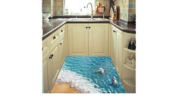 Cczxfcc adesivi per pavimenti di mare adesivi per parete di delfini