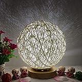 TianranRT Lampe de chevet à LED en rotin 3D USB pour la lune et la nuit, Weiß