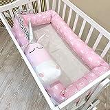 Levoberg Nestchen Schlange, Bettschlange baby Nestchen Nackenrolle Kissen Babynest Babynestchen Bettrolle aus Baumwolle 2 M