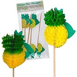 Preis am Stiel 1 x Partypicker Ananas | Partypicker | Partyzubehör | Sommer