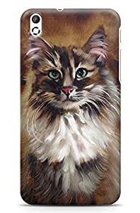 GeekCases Canves House Cat Back Case for HTC Desire 816