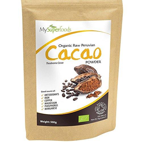 Polvo de Cacao Peruano Crudo Orgánico (200g), MySuperFoods, Delicioso y bueno para usted, Rico en micronutrientes, certificado como producto orgánico, antiguo alimento para la salud maya