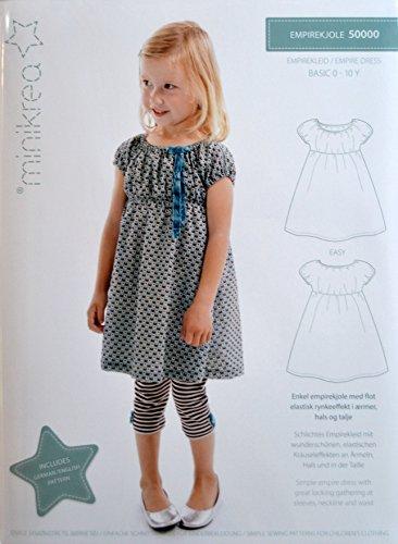 Schnittmuster Empirekleid für Babys & Kinder / Gr. 74-98cm / 5x0000
