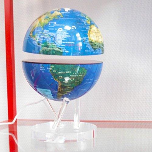 CoreGlobe, le Premier Globe Lumineux Electromagnétique 2 en 1 - Bleu
