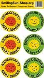 Atomkraft? Nein Danke / Erneuerbare Energie - Aufkleber Set 6 Stück - Deutsch