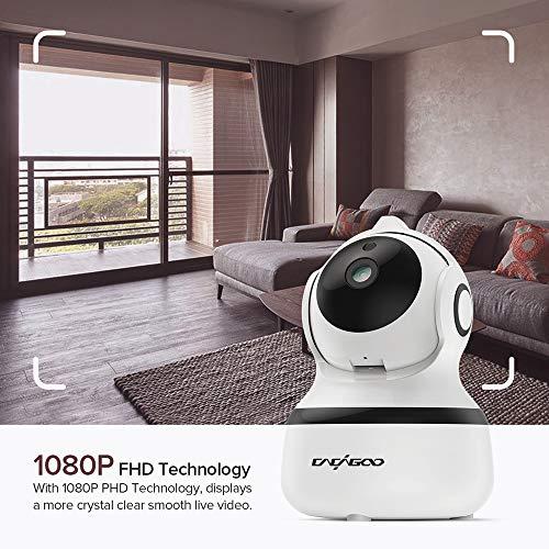 CACAGOO1080P Cámara IP WiFi, Cámara de Vigilancia FHD con Visión Nocturna, Detección de MovimientoMonitor para Bebe/Perros,  Audio de 2 Vías,  2.4GHz WiFi,  Compatible con iOS/Android