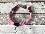 Tau-Halsband Größe 36-38cm Pink Ombre