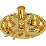 "Cameo Brass Gold Plated 10"" Dinner Set 10 Pcs."