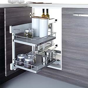 Soft Close Blind Corner Optimiser Kitchen Cabinet Storage ...