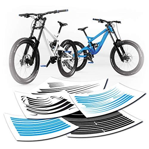 style4Bike Fahrradaufkleber Fahrrad Aufkleber Streifen Sets | klein