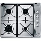 Whirlpool AKM 268/IX built-in Gas Stainless steel hob - Hobs (Built-in, Gas, Stainless steel, Rotary, Top right, 580 mm)