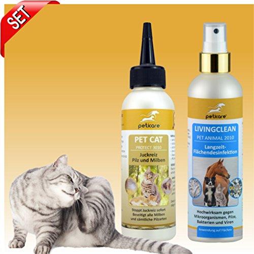 SET Milben, Juckreiz, Desinfektion für Katzen - Peticare