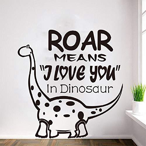 Dinosaurier Wandaufkleber Kindergarten Kinderzimmer Wandtattoos Cartoon Niedlichen Tier Vinyl Room Removable Wall Stick rot 58 X 60 cm ()