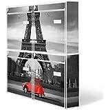 Burg-Wächter buzones, Diseño de correo, chapa de acero de colour blanco, por correo electrónico 5877 vatios 72 x 64 x 10 cm con imagen de París