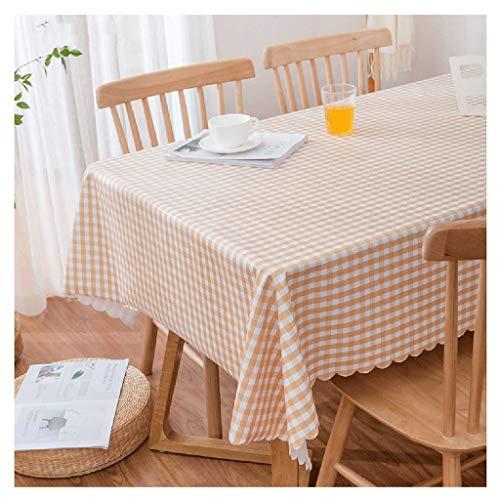 eundliche PVC-Kunststoff rechteckige Tischdecke, wasserdicht, öldicht und Anti-Verbrühung sauber karierten Tischdecke Esstisch Schreibtisch Picknick Tischdecke Tischdecken ()
